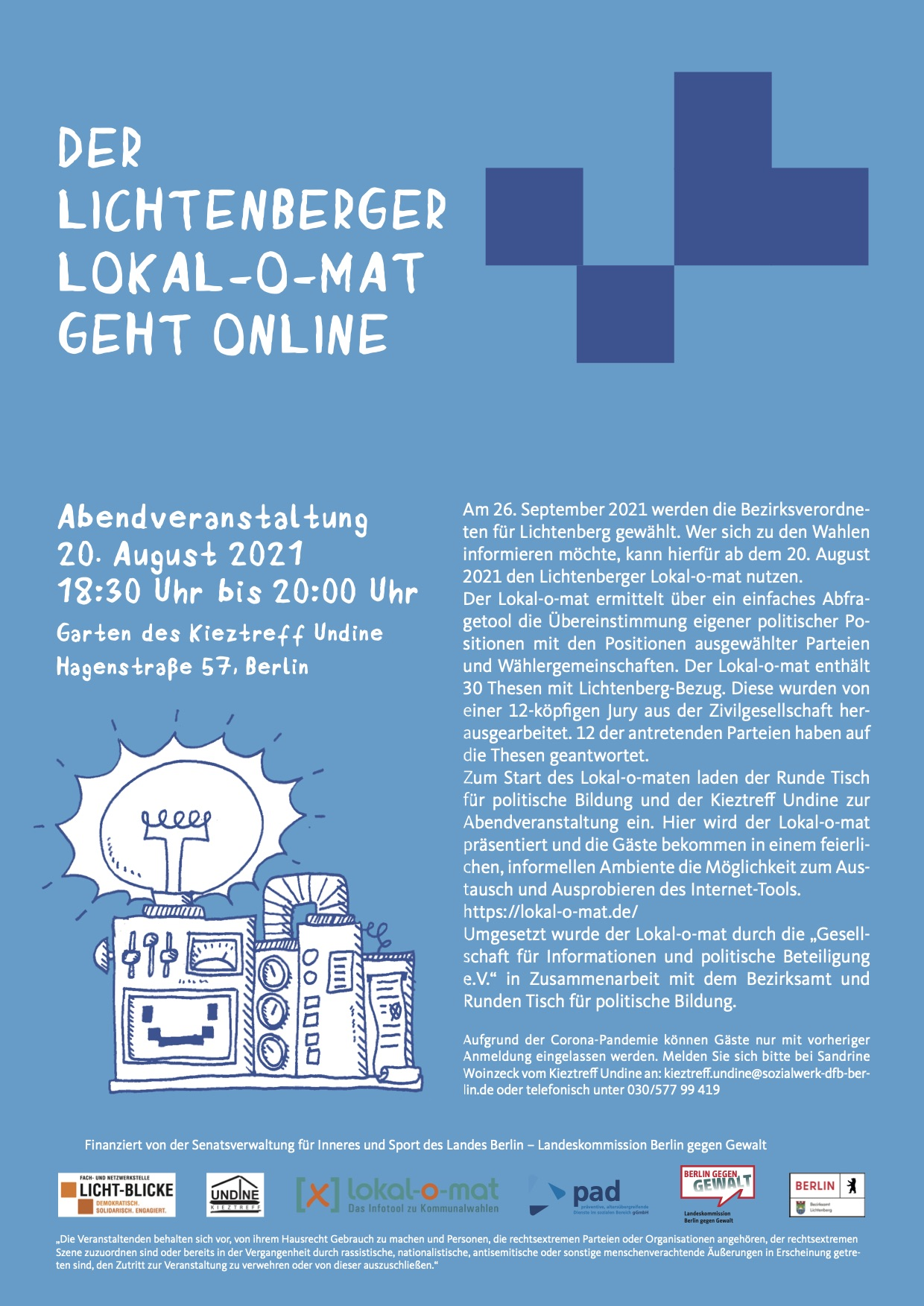 Lokalomat Launch Lichtenberg